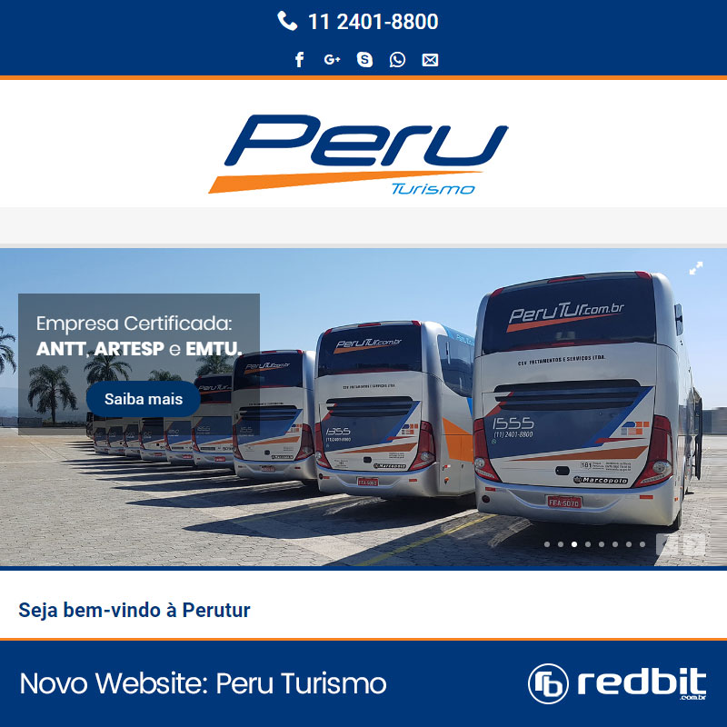 Novo Site para Empresa de Ônibus Peru Turismo