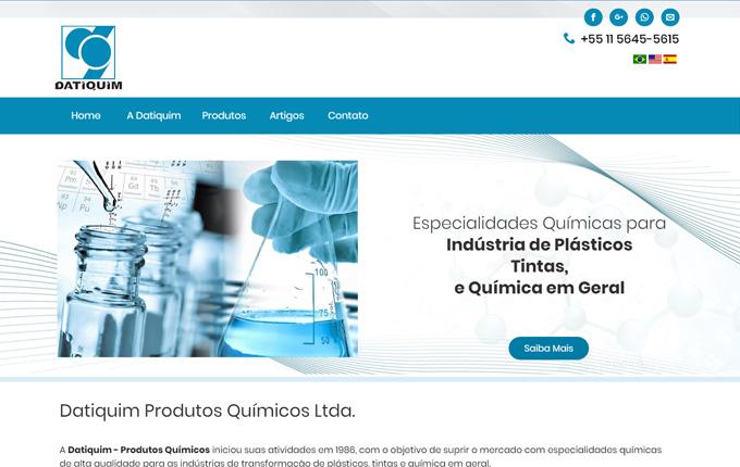 Criação de Site para Empresa de Produtos Químicos Datiquim