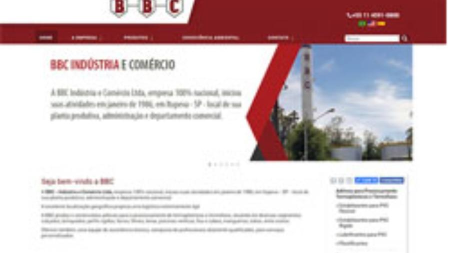 Criação de Site para Indústria e Comércio BBC